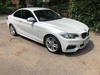 2014 BMW 2 SERIES 2.0 220D M SPORT 2d 181 BHP £13750.00