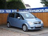 2008 VAUXHALL MERIVA 1.4 CLUB 16V TWINPORT 5d 90 BHP £2295.00