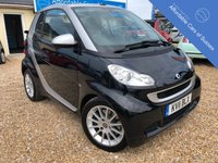 USED 2011 11 SMART FORTWO CABRIO 1.0 PASSION MHD 2d AUTO 71 BHP Heated Black Leather Seats + Colour Sat Nav