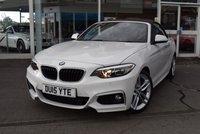 2015 BMW 2 SERIES 2.0 220D M SPORT 2d 188 BHP £14450.00
