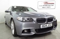 USED 2014 14 BMW 5 SERIES 3.0 535D M SPORT TOURING 5d AUTO 309 BHP Stunning 535 D  M Sport Touring  in a stylish metallic Grey with full service history BMW / Bosch . If you haven't driven one of these you really need to as they're one of the best cars on the market with stunning performance and handling 309 BHP. Extremely clean inside and out. This example has Harman Kardon  sound upgrade, power tailgate..M Sport Plus package £1,850 Panoramic glass sunroof £1,250 Variable Damper Control (VDC) £985  Lumbar support, front £275  Tyre pressure monitoring £255   Sp