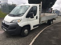 2017 CITROEN RELAY 2.0 35 L3 BLUEHDI 1d 129 BHP 14FT ALLOY DROPSIDE  £11995.00