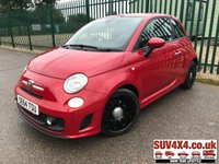 USED 2015 64 ABARTH 500 1.4 ABARTH 3d 135 BHP AIR CON ALLOYS BODYKIT. STUNNING RED MET WITH BLACK LEATHER SPORTS SEATS. 17 INCH ALLOYS. COLOUR CODED TRIMS. PARKING SENSORS. BLUETOOTH PREP. R/CD PLAYER. MFSW. MOT 04/20. SERVICE HISTORY. SUV4X4 USED CAR CENTRE LS23 7FR TEL 01937 849492 OPTION 1