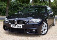 """USED 2015 15 BMW 5 SERIES 2.0 520D M SPORT 4d AUTO 188 BHP/ PRO SAT NAV/ HEATED SEATS STUNNING LOOKING BMW 5 SERIES M SPORT AUTOMATIC WITH PROFESSIONAL SAT NAV/ HEATED SEATS/ XENONS/ LEATHER SEATS/ BLUETOOTH/ CRUISE CONTROL/ PARKING SENSORS/ WITH FULL MAIN DEALER SERVICE HISTORY/ NEW SERVICE @67K MILEAGE/ 1 YEAR NEW MOT/ ROAD TAX £30,- / WARRANTY/ HPI CLEARED/  BOOK A TEST DRIVE TODAY! APPLY FOR A CAR FINANCE ON OUR WEBSITE PAGE """"FINANCE""""."""