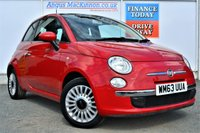 USED 2014 63 FIAT 500 1.2 LOUNGE 3d Petrol Hatchback LOW RUNNING COSTS + HIGH MPG