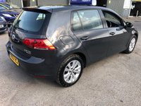 USED 2013 63 VOLKSWAGEN GOLF 2.0 SE TDI BLUEMOTION TECHNOLOGY 5d 148 BHP WITH 1 OWNER AND FULL SERVICE HISTORY IN METALLIC GREY