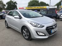 2016 HYUNDAI I30 1.6 SE 5d AUTO 118 BHP IN METALLIC SILVER WITH 1 OWNER AND FULL SERVICE HISTORY  £9299.00