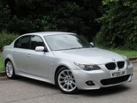 USED 2009 09 BMW 5 SERIES 2.0 520D M SPORT 4d AUTO 175 BHP FULL HEATED LEATHER INTERIOR, SAT NAV