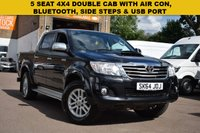 USED 2014 64 TOYOTA HI-LUX 2.5 ICON 4X4 D-4D DCB 1d 142 BHP Popular 2014 Toyota Hi Lux 2.5 d4d ICON 4x4 in black with records for 6 previous services.