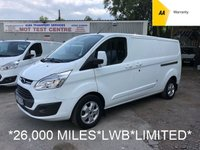 USED 2015 65 FORD TRANSIT CUSTOM LWB 2.2 290 LIMITED 124 BHP *26,000 MILES*