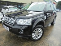 USED 2013 63 LAND ROVER FREELANDER 2.2 SD4 HSE 5d AUTO 190 BHP Top Spec HSE Model, Excellent Condition, No Deposit Finance Available, Part Ex Welcomed