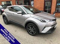 "USED 2017 67 TOYOTA CHR 1.2 EXCEL 5DOOR 114 BHP DAB   :   Sat Nav   :   USB & AUX   :   Auto Headlights   :   Cruise Control / Speed Limiter     Bluetooth   :   Climate Control / Air Con   :   Heated Front Seats   :   Rear View Camera                 Rear Privacy Glass     :     Front/Rear Parking Sensors     :     18"" Alloy Wheels     :     2 Keys     Full Toyota Service History"