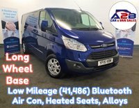 2015 FORD TRANSIT CUSTOM 2.2 TDCi 290 LIMITED 125 BHP Long Wheel Base In Deep Impact Blue with Low Mileage (41,486) Air Conditioning, Bluetooth, Alloy Wheels, Heated Seats, Front & Rear Parking Sensors and more £11480.00