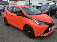 USED 2015 15 TOYOTA AYGO 1.0 VVT-I X-CITE X-SHIFT 5d AUTO 69 BHP STUNNING TOYOTA AYGO 1.0 AUTOMATIC IN ORANGE, THIS CAR HAS ONLY DONE 21,000 MILES AND WILL COST YOU NOTHING TO ROAD TAX.