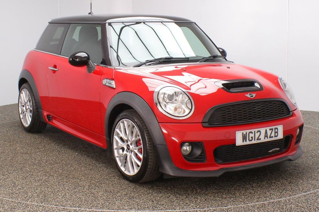 USED 2012 12 MINI HATCH JOHN COOPER WORKS 1.6  CHILI PACK 3DR 211 BHP SAT NAV FULL SERVICE HISTORY + SATELLITE NAVIGATION + HEATED HALF LEATHER SEATS + PARKING SENSOR + BLUETOOTH + CRUISE CONTROL + CLIMATE CONTROL + MULTI FUNCTION WHEEL + DAB RADIO + XENON HEADLIGHTS + PRIVACY GLASS + ELECTRIC WINDOWS + RADIO/CD/AUX/USB + ELECTRIC MIRRORS +17 INCH ALLOY WHEELS