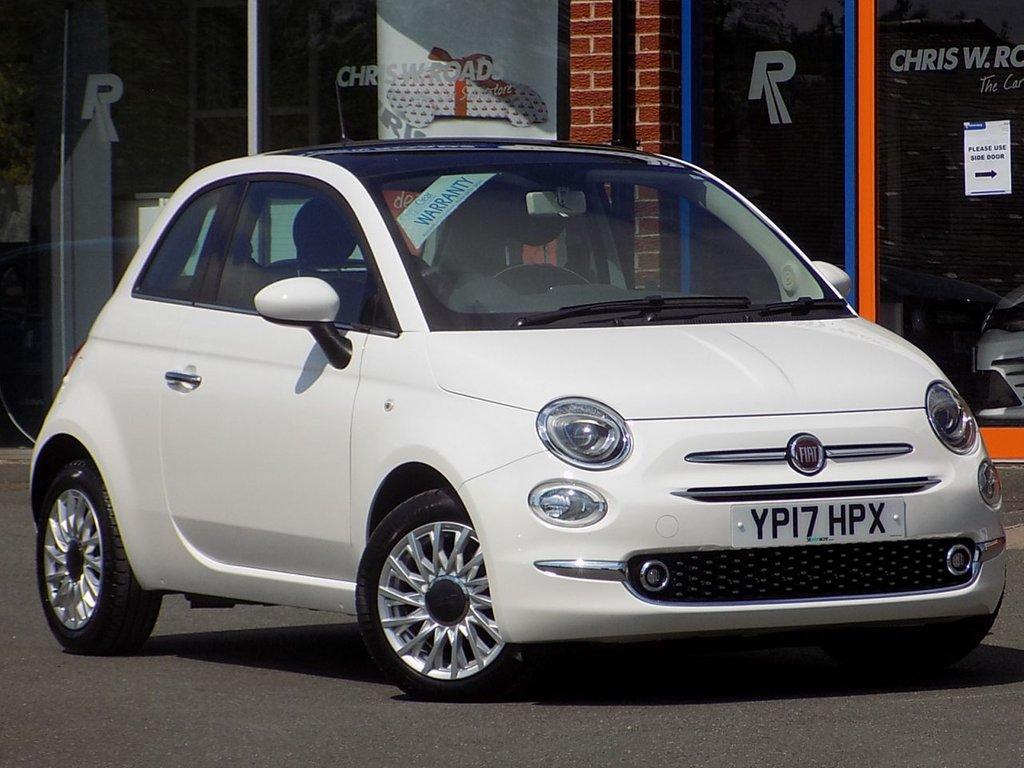 USED 2017 17 FIAT 500 1.2 Lounge 3dr ** Pan Roof + Cruise Control **
