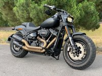 USED 2019 19 HARLEY-DAVIDSON SOFTAIL FXFBS Fat Bob 114 Black Denim | V&H Exhaust