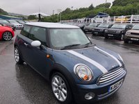 USED 2010 60 MINI HATCH ONE 1.6 ONE 3d 98 BHP with White Roof, mirrors & Stripes. Only 59,000 miles