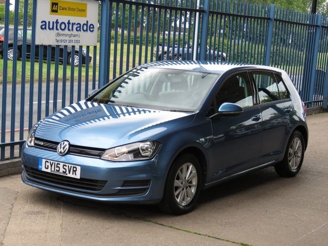 USED 2015 15 VOLKSWAGEN GOLF 1.6 BLUEMOTION TDI 5dr Bluetooth Alloys DAB £zero Road Tax,Touch screen,Isofix,VW Service History