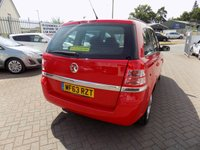 USED 2013 63 VAUXHALL ZAFIRA 1.8 EXCLUSIV 5d 120 BHP Excellent condition, low mileage, full service history with 7 seats.