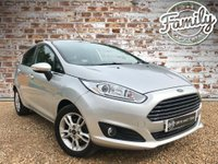 USED 2016 16 FORD FIESTA 1.2 ZETEC 5d 81 BHP **LOW MILEAGE, 1 OWNER, FULL FORD HISTORY AND SAT NAV!!**