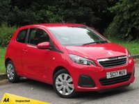 USED 2017 17 PEUGEOT 108 1.0 ACTIVE 3d 68 BHP MANUFACTURERS WARRANTY MAY 2020