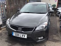USED 2011 11 KIA CEED 1.6 CRDI 3 5d 113 BHP Comfort, style, economy, reliability, great value. Low road tax. Fantastic