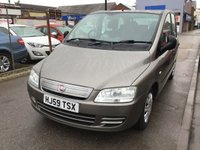 USED 2009 59 FIAT MULTIPLA 1.9 MULTIJET DYNAMIC PLUS 5d 120 BHP 6 seater diesel mpv, fantastic duel purpose vehicle.