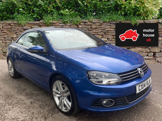 USED 2014 14 VOLKSWAGEN EOS 2.0 TDI BlueMotion Tech Sport 2dr CONVERTIBLE STUNNING WELL MAINTAINED EXAMPLE WITH FULL SERVICE HISTORY (6 STAMPS). ALLOY WHEELS. CLIMATE CONTROL. RADIO/CD/AUX/USB. HEATED LEATHER SEATS. PARK SENSORS
