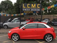 USED 2012 61 AUDI A1 1.4 TFSI S LINE 3d AUTO 122 BHP STUNNING MISANO PEARL RED PAINT WORK, BLACK PART LEATHER CLOTH S LINE SEATS, S LINE ALLOY WHEELS, FRONT ANDREAR PARK SENSORS, BLUETOOTH, MULTI MEDIA CENTRE, AIR CON,  HIGH SPEC AUDI A1 SERVICE HISTORY