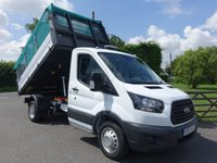 USED 2017 17 FORD TRANSIT 350 L2 MWB DRW CAGE TIPPER 2.0 TDCI 130 BHP Direct From Leasing Company With Only 6000 Miles! One Stop Ford Alloy Body With Removable TGS Cage Top, First Class Example Almost As New Condition!