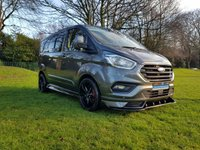 USED 2019 19 FORD TRANSIT CUSTOM NEW 2.0 300 LIMITED SWB DCB CREW VAN 130BHP RS STYLED PRE REGISTERED 2019 WITH REAR SEAT CONVERSION REMOVABLE FOLDING SEATS