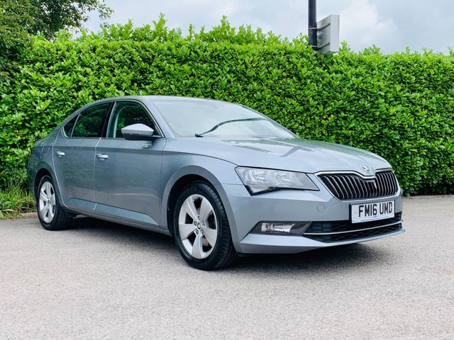 """USED 2016 16 SKODA SUPERB 1.6 SE TDI 5d 118 BHP Full Main Dealer Service History, One Owner From New, £20 Tax Per Year, Sat Nav, Bluetooth, Rear Parking Sensors, Climate Control, Cruise Control, Air Conditioning, 17"""" Alloy Wheels, Tinted Glass, Auto Lights, Spare Key, Drive Away In Under 1 Hour"""
