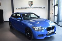 "USED 2013 63 BMW 1 SERIES 2.0 120D M SPORT 3DR AUTO 181 BHP full service history * NO ADMIN FEES * FINISHED IN STUNNING ESTORIL METALLIC BLUE WITH ANTHRACITE UPHOLSTERY + FULL SERVICE HISTORY + BLUETOOTH + DAB RADIO + RAIN SENSORS + SPORT SEATS + AUTO AIR CON + M-SPORT PACKAGE + 18"" ALLOY WHEELS"