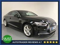 USED 2016 66 AUDI A5 2.0 TFSI S LINE 2d AUTO 188 BHP HISTORY - 1 OWNER - SAT NAV - PARKING SENSORS - AIR CON - BLUETOOTH - DAB - CRUISE - HALF LEATHER