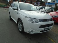 USED 2014 64 MITSUBISHI OUTLANDER 0.0 PHEV GX 4H 5d AUTO 162 BHP, ULEZ EXEMPT ONLY 41 MILES!