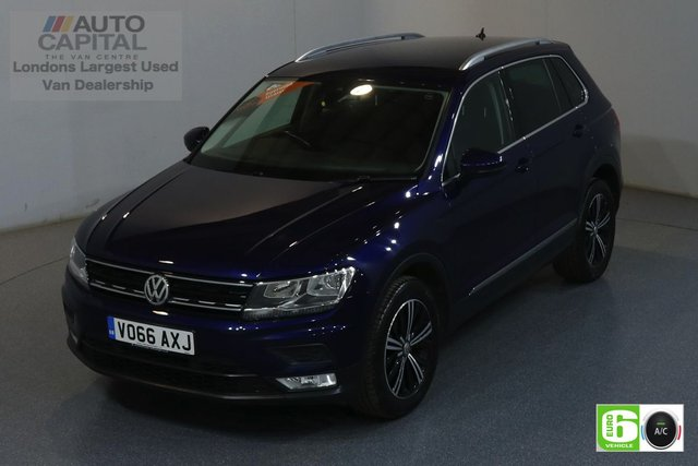 2016 66 VOLKSWAGEN TIGUAN 2.0 SE NAV TDI BMT 4MOTION 148 BHP EURO 6 ENGINE AIR CON, DEALER SERVICE HISTORY, ONE OWNER