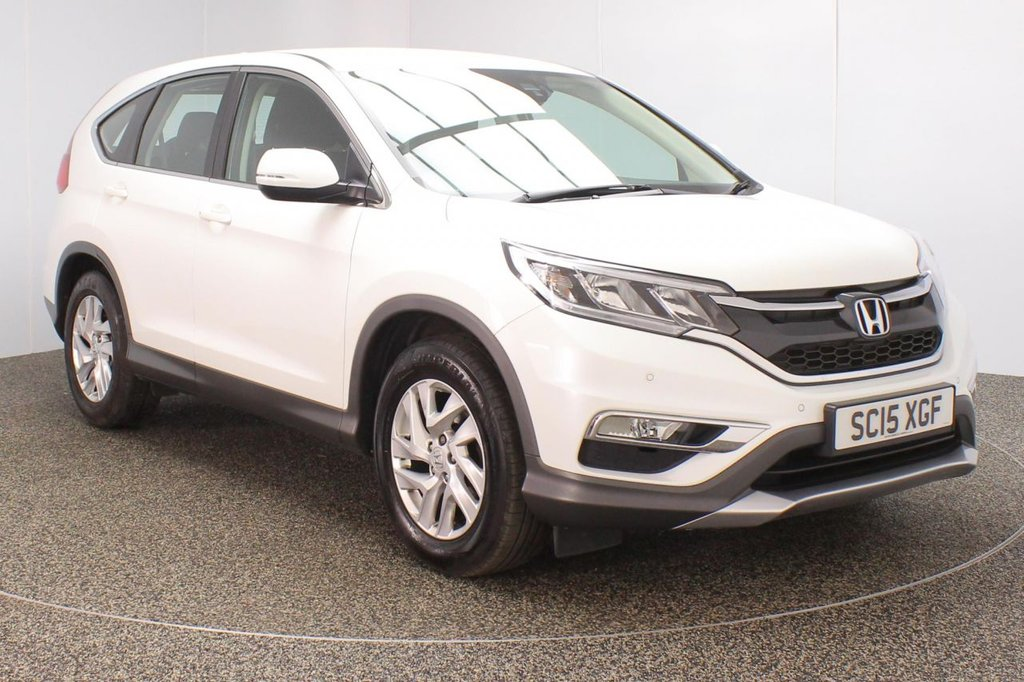 USED 2015 15 HONDA CR-V 1.6 I-DTEC SE 5DR 1 OWNER 118 BHP SERVICE HISTORY + REVERSE CAMERA + BLUETOOTH + PARKING SENSOR + CRUISE CONTROL + CLIMATE CONTROL + MULTI FUNCTION WHEEL + DAB RADIO + ELECTRIC WINDOWS + ELECTRIC MIRRORS +17 INCH ALLOY WHEELS