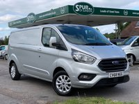 USED 2018 68 FORD TRANSIT CUSTOM 2.0 300 LIMITED P/V L2 H1 1d 130 BHP Long Wheel Base, Only 11,000 Miles, Air Con,  Apply Car Play, Handsfree Bluetooth Phone.