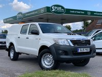 USED 2015 15 TOYOTA HI-LUX 2.5 ACTIVE 4X4 D-4D DCB 1d 142 BHP Truckman Top, Tow Bar, Air Con, One Owner.