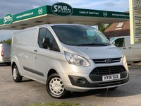 USED 2018 18 FORD TRANSIT CUSTOM 2.0 290 TREND LR P/V 1d 104 BHP ULEZ Compliant, Euro 6, Long Wheel Base, Only 19,000 Miles.