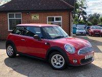 2013 MINI HATCH ONE 1.6 ONE 3d 98 BHP £6495.00