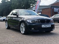 USED 2012 62 BMW 1 SERIES 2.0 118D SE 2d AUTO 141 BHP MEDIA PACK * NAVIGATION SYSTEM * LEATHER TRIM * SUNROOF * PRIVACY GLASS * 18 INCH ALLOYS * PARKING AID
