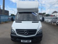 USED 2017 17 MERCEDES-BENZ SPRINTER 314CDI LWB LUTON WITH CURTAIN SIDE, 140 BHP [EURO 6]