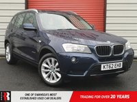 USED 2012 62 BMW X3 2.0 XDRIVE20D SE 5d 181 BHP Black Nevada Leather and Bluetooth