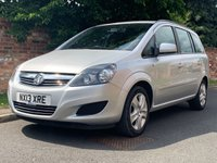 USED 2013 13 VAUXHALL ZAFIRA 1.6 EXCLUSIV 5d 113 BHP 2 OWNERS, FULL SERVICE HISTORY, 1YR MOT, EXCELLENT CONDITION, ALLOYS, AIR CON, FOGS, RADIO CD, E/WINDOWS, R/LOCKING, FREE WARRANTY, FINANCE AVAILABLE, HPI CLEAR, PART EXCHANGE WELCOME,