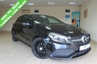 USED 2016 16 MERCEDES-BENZ A CLASS A180d AMG LINE PREMIUM AUTOMATIC HATCHBACK BLACK HALF LEATHER, SATELLITE NAVIGATION, CLIMATE CONTROL, SMARTPHONE INTEGRATION PACKAGE AND APPLE CARPLAY, CRUISE CONTROL, ELECTRIC FOLDING MIRRORS, ATTENTION ASSIST, AMG STYLING PK, HEATED FRONT SEATS, AMG SPORTS PK, MIRROR PK, SEAT COMFORT PK, 18 INCH AMG SPOKE ALLOYS, COMPARTMENT PK, RAIN SENSOR, REAR VIEW CAMERA, ACTIVE PARK ASSIST, VERY LOW MILEAGE.