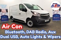 2016 VAUXHALL VIVARO 1.6 CDTi CDTI 115 BHP in White with Air Conditioning, Bluetooth, DAB Radio, Automatic Headlights & Wipers, Aux & USB, Fully Ply Lined and more £8480.00