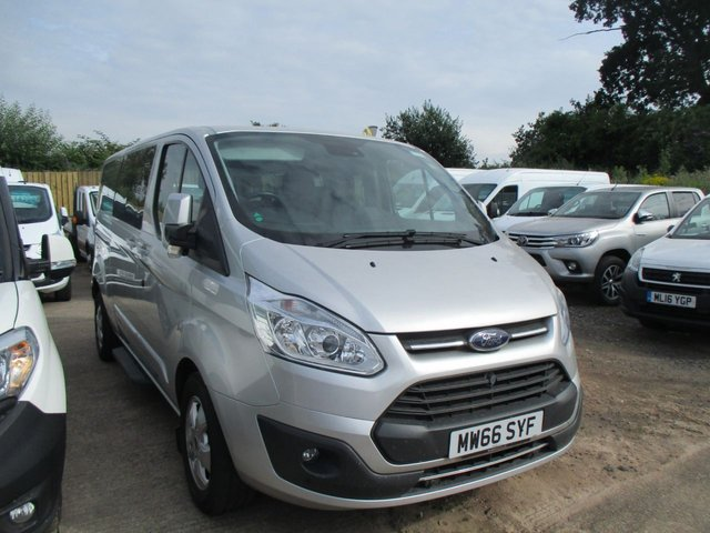 2016 66 FORD TOURNEO CUSTOM 2.0 130 BHP TURBO DIESEL TDCI 310 TITANIUM 9 SEAT MINI BUS MPV  SILVER