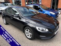 """USED 2015 15 VOLVO S60 2.0 D3 BUSINESS EDITION 4DOOR 148 BHP ONLY £20 Road Tax   :   DAB   :   Sat Nav   :   USB & AUX Sockets   :   Car Hotspot / WiFi      Cruise Control / Speed Limiter      :      Bluetooth      :      Climate Control / Air Conditioning      Rear Parking Sensors   :   16"""" Alloy Wheels   :   2 Keys   :   Full Service History"""